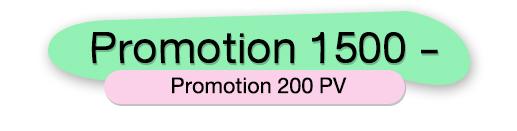 PROMOTION 1500 บาท 200 PV