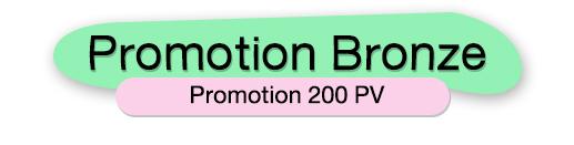 PROMOTION BRONZE 200 PV